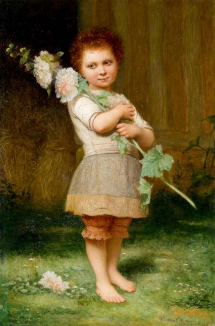 10006Charles_Landelle_1812_1908_Girl_with_a_Hollyhock_1